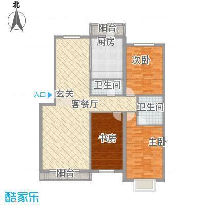 景观花园152.24㎡景观花园户型图户型图3室2厅2卫1厨户型3室2厅2卫1厨