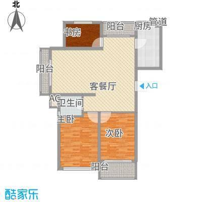 丽和阳光城122.43㎡丽和阳光城户型图O户型3室2厅1卫1厨户型3室2厅1卫1厨
