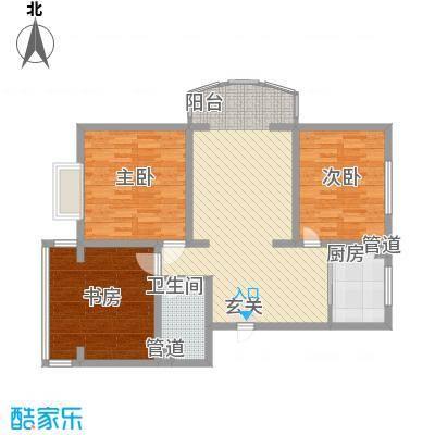 金河湾121.20㎡金河湾户型图户型图3室2厅1卫1厨户型3室2厅1卫1厨