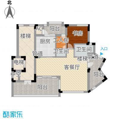 江南世家别墅江南世家别墅户型图二期半山气质B型下层户型10室