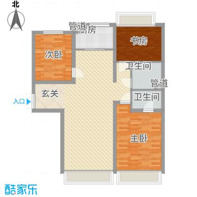 中鼎馨城128.92㎡中鼎馨城户型图C户型3室2厅1卫1厨户型3室2厅1卫1厨