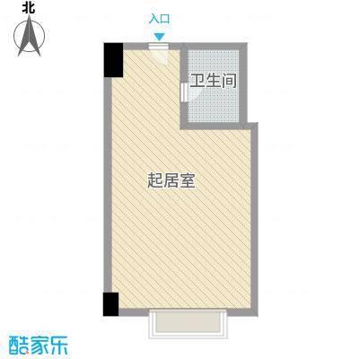 利佰佳国际公寓61.10㎡利佰佳国际公寓户型图户型图1室1厅1卫1厨户型1室1厅1卫1厨