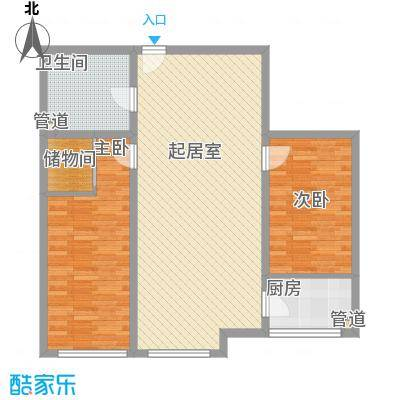 花样年华102.90㎡花样年华户型图N户型2室2厅1卫1厨户型2室2厅1卫1厨