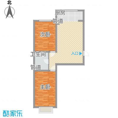 公元大道82.06㎡公元大道户型图G户型2室1厅1卫1厨户型2室1厅1卫1厨