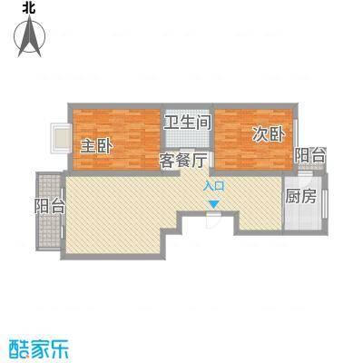 长乐湾105.40㎡长乐湾户型图W户型2室2厅1卫1厨户型2室2厅1卫1厨