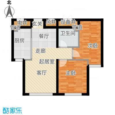 祥泰香榭花堤74.56㎡祥泰香榭花堤户型图D2户型2室1厅1卫1厨户型2室1厅1卫1厨