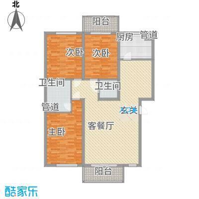 上林湾137.00㎡上林湾户型图G户型图3室2厅2卫1厨户型3室2厅2卫1厨