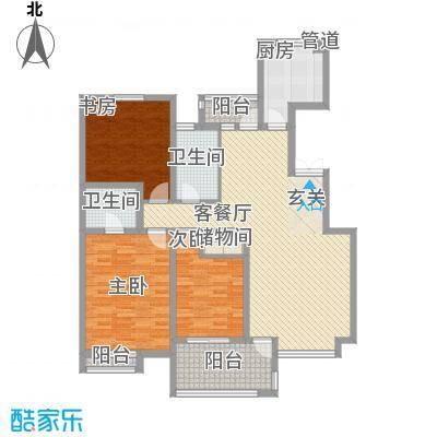 香格里140.78㎡香格里户型图户型图3室2厅2卫户型3室2厅2卫