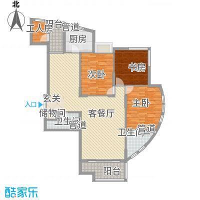 香格里152.00㎡香格里户型图户型图3室2厅2卫户型3室2厅2卫