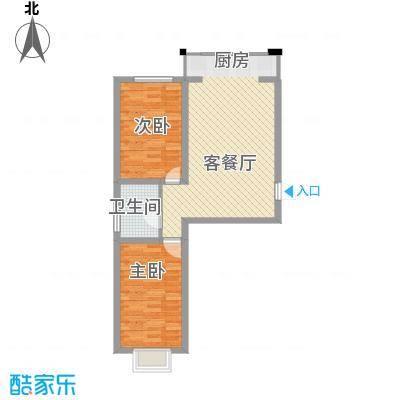 水岸国际77.94㎡水岸国际户型图B户型(边户)2室1厅1卫1厨户型2室1厅1卫1厨