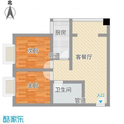 金汉御园70.00㎡金汉御园户型图两室一厅一卫(D)2室1厅1卫1厨户型2室1厅1卫1厨