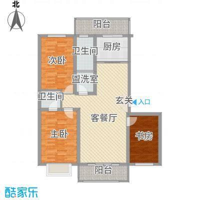 幸福易居3室2厅3户型3室2厅2卫1厨
