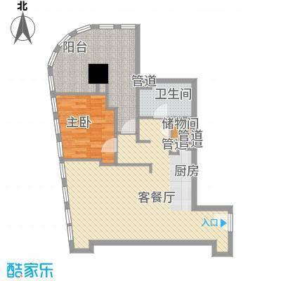 奈伦国际117.00㎡奈伦国际户型图D座B1户型2室1厅1卫1厨户型2室1厅1卫1厨