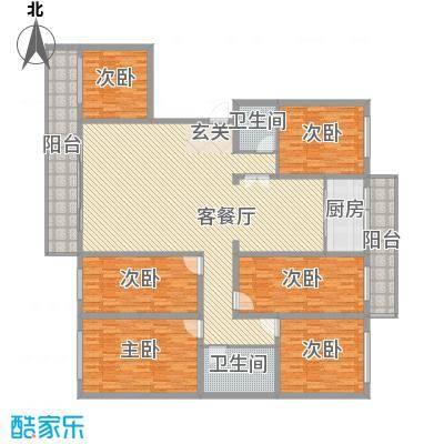 兆宸公寓264.78㎡兆宸公寓户型图户型图6室2厅1卫1厨户型6室2厅1卫1厨