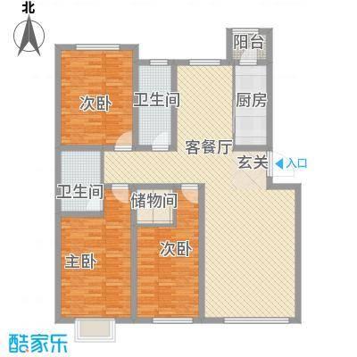 新街坊140.66㎡新街坊户型图C1户型3室2厅2卫1厨户型3室2厅2卫1厨