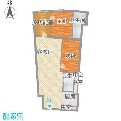 正佳东方国际157.01㎡正佳东方国际户型图13-26层13、15单位(F户型)3室2厅2卫1厨户型3室2厅2卫1厨