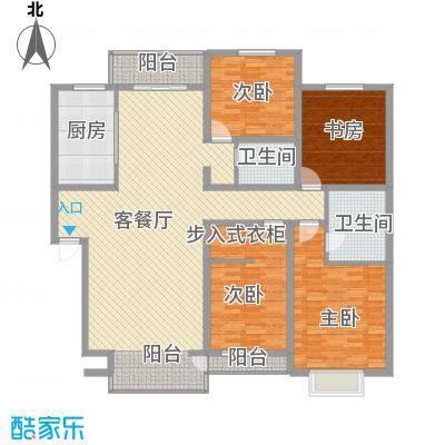 桥华世纪村一期豪华型户型4室2厅2卫1厨