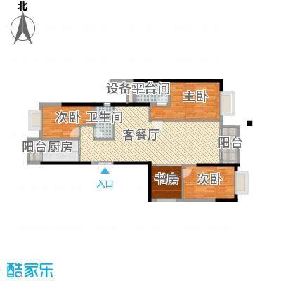 高雅湾135.00㎡高雅湾户型图D户型4室2厅2卫1厨户型4室2厅2卫1厨