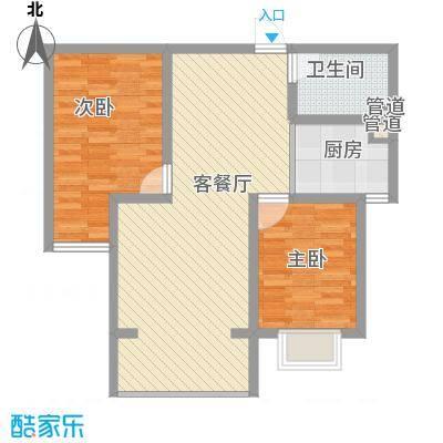 金汉御园90.92㎡金汉御园户型图7#楼E户型12室2厅1卫1厨户型2室2厅1卫1厨