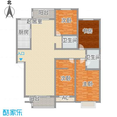 丽苑小区丽苑小区户型图桥华4室2厅4室户型4室