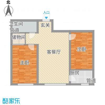 彤辉绿园小区2室2厅户型2室2厅1卫1厨