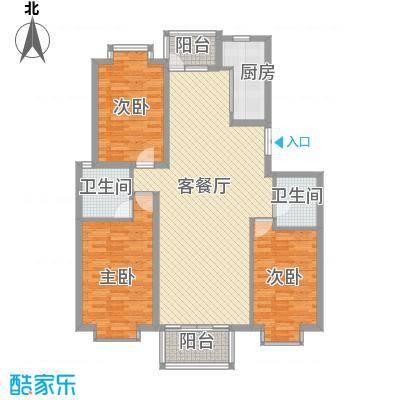 兴泰东河湾151.00㎡兴泰东河湾户型图R3-13室2厅2卫1厨户型3室2厅2卫1厨