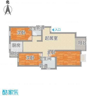 水语青城121.50㎡水语青城户型图A1户型3室2厅2卫1厨户型3室2厅2卫1厨
