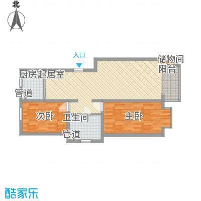 水语青城99.00㎡水语青城户型图D1户型2室2厅1卫1厨户型2室2厅1卫1厨
