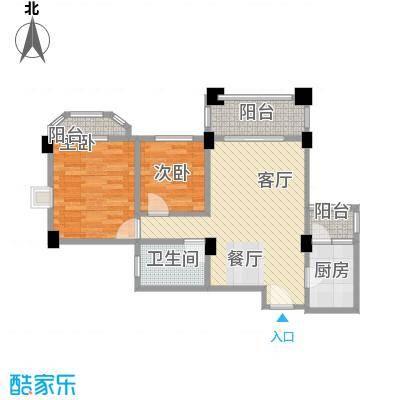 南沙碧桂园67.35㎡户型2室1厅1卫1厨
