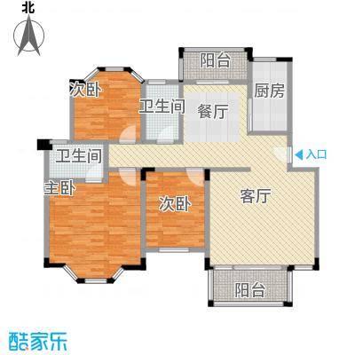 南沙碧桂园108.22㎡户型3室1厅2卫1厨