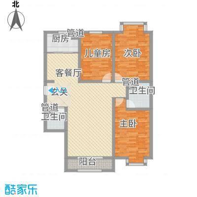 北辰新领地135.57㎡北辰新领地户型图J户型3室2厅2卫1厨户型3室2厅2卫1厨