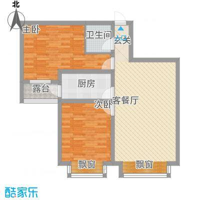 西岸国际94.57㎡西岸国际户型图户型图2室2厅1卫1厨户型2室2厅1卫1厨