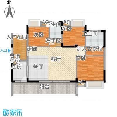 优山美地(别墅)户型图3221 3室2厅2卫1厨