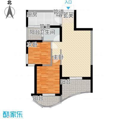 森林海户型图35#C型 2室2厅1卫1厨