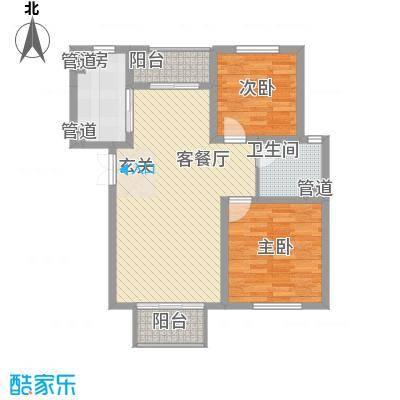 新桥・阳光半岛户型图D 2室2厅1卫