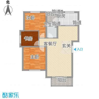新桥・阳光半岛户型图G 3室2厅1卫