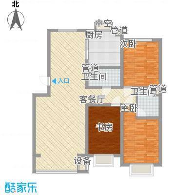 宽城130.72㎡宽城户型图N2户3室2厅2卫1厨户型3室2厅2卫1厨
