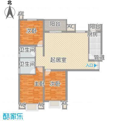 汇雅风尚129.00㎡汇雅风尚户型图一期5号楼D户型3室2厅2卫1厨户型3室2厅2卫1厨
