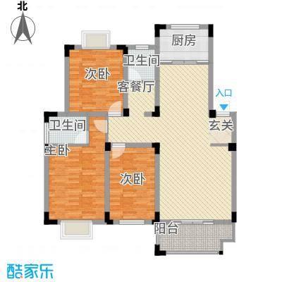 安正御龙湾121.53㎡安正御龙湾户型图A1户型3室2厅2卫1厨户型3室2厅2卫1厨