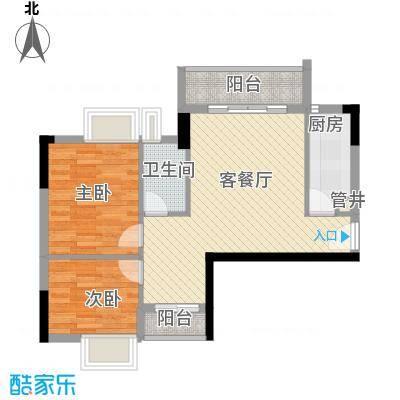 广州亚运城74.00㎡广州亚运城・天誉户型图媒体村C栋01单位2室2厅2卫1厨户型2室2厅2卫1厨