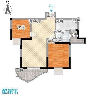 森林海92.83㎡森林海户型图M户型(10#11#02/05)2室2厅1卫1厨户型2室2厅1卫1厨