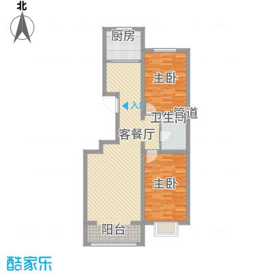 公元大道103.03㎡公元大道户型图J户型2室2厅1卫1厨户型2室2厅1卫1厨