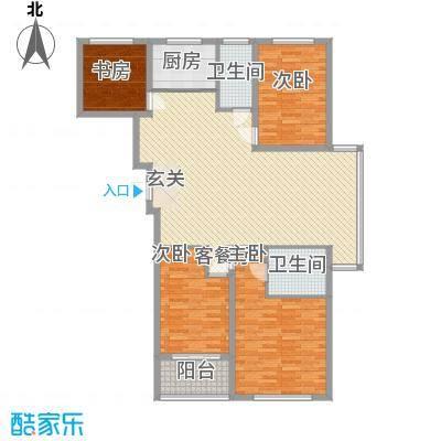 吉美家园154.60㎡吉美家园户型图3号楼A14室2厅2卫1厨户型4室2厅2卫1厨