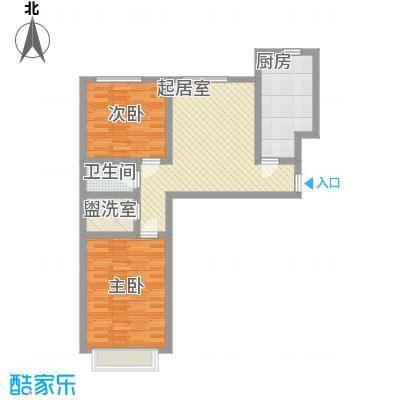 都市新村81.58㎡都市新村户型图B户型2室1厅1卫1厨户型2室1厅1卫1厨