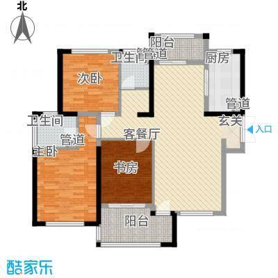 天慧紫辰阁133.00㎡天慧紫辰阁户型图A-1户型3室2厅2卫1厨户型3室2厅2卫1厨