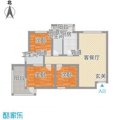 锦绣大地城一期123.00㎡锦绣大地城一期户型图D户型3室2厅2卫1厨户型3室2厅2卫1厨
