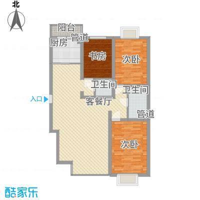 长乐湾130.60㎡长乐湾户型图Q户型3室2厅2卫1厨户型3室2厅2卫1厨