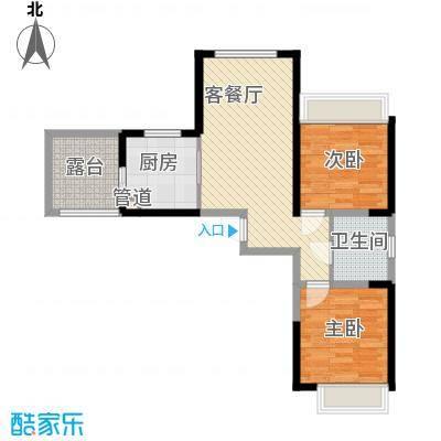 建业时光原著82.00㎡建业时光原著户型图7#楼C12室2厅1卫1厨户型2室2厅1卫1厨