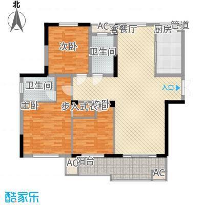 东方华庭131.10㎡东方华庭户型图G6户型3室2厅2卫1厨户型3室2厅2卫1厨