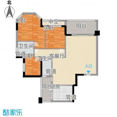 翡翠绿洲龙翔台户型图3室2厅户型图 3室2厅2卫1厨